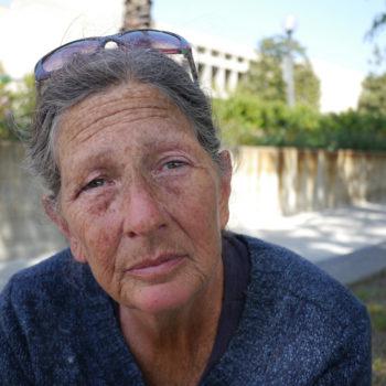 Homeless woman Los Angeles