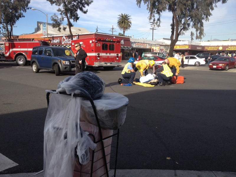 homeless woman hit by car