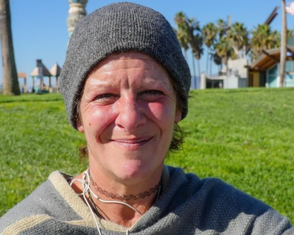 homeless woman venice beach