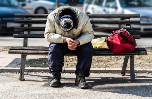 indigenous homeless man