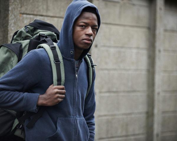 Homeless Teenage Boy On Streets