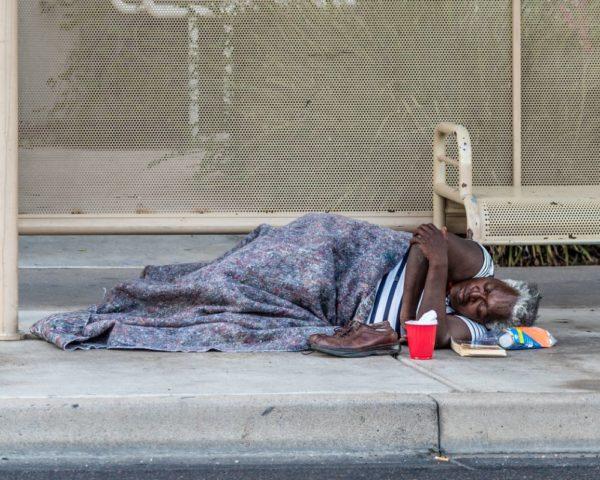 black homeless