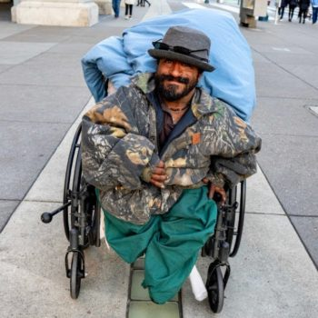 Disabled Little Person Homeless in San Francisco