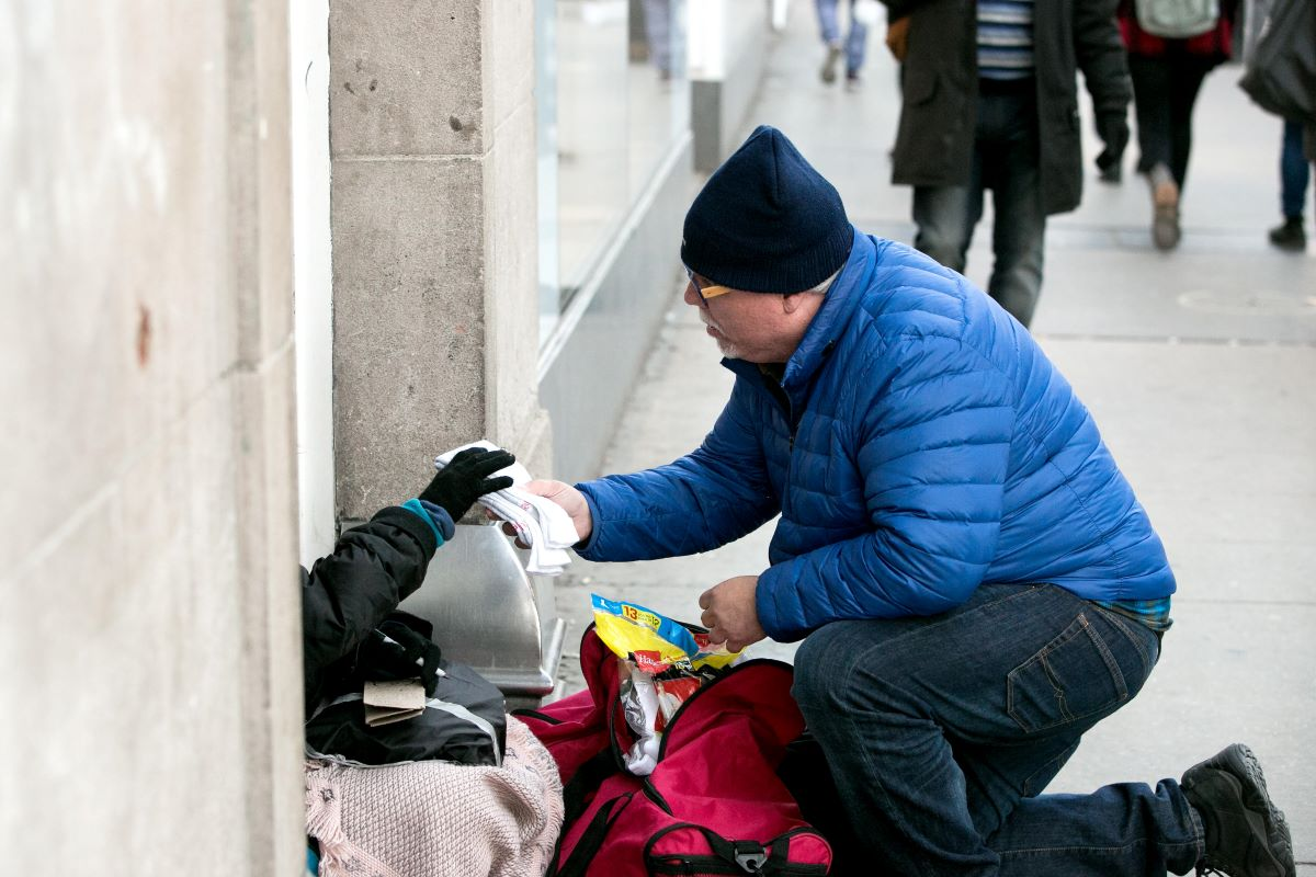 Give to Homeless People