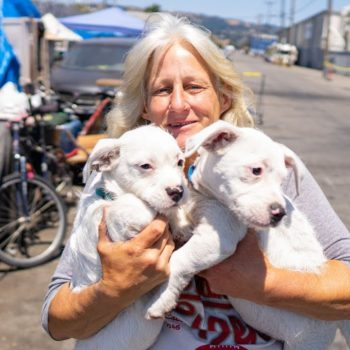 Homeless Woman in Oakland Loves Her Dogs