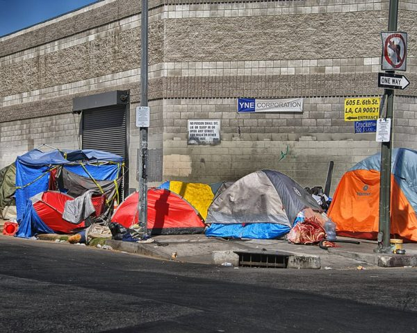 homeless tents skid row los angeles
