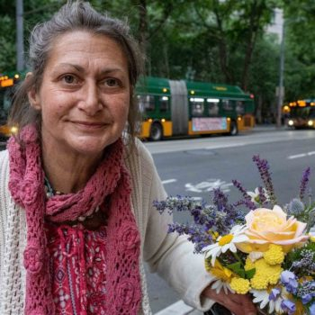 Seattle Homeless Woman Takes Donations for Flowers to Survive