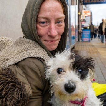 Homeless Woman Sleeping Rough in London after Domestic Violence