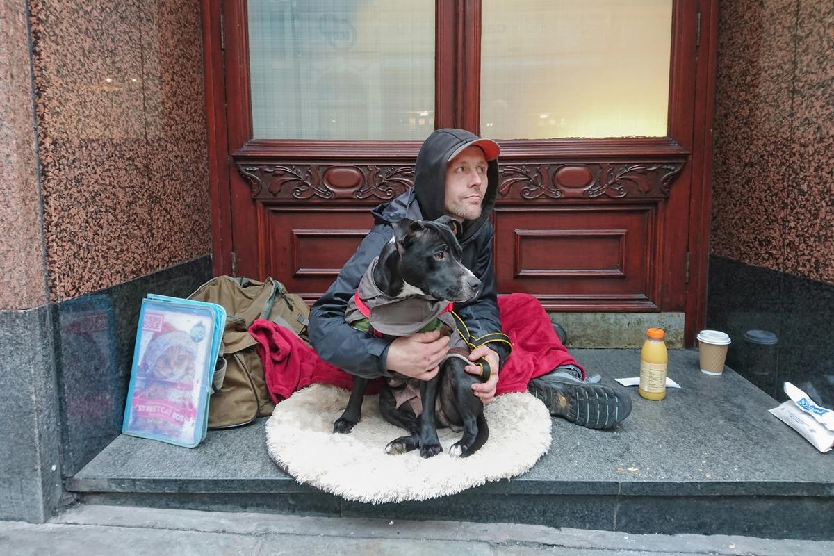 working homeless people