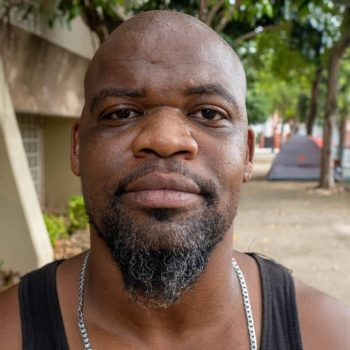 Homeless Man Lives with His Wife in a Tent Downtown Miami Beach