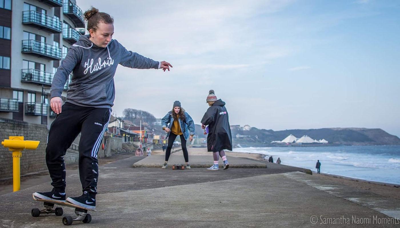 Hannah Skateboarding