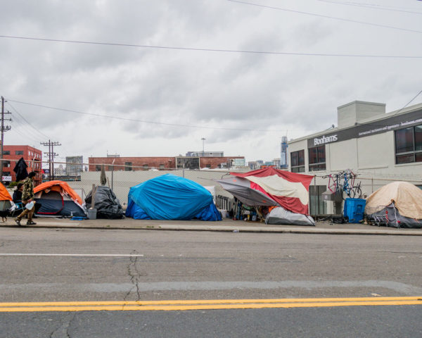 Homeless tent camp