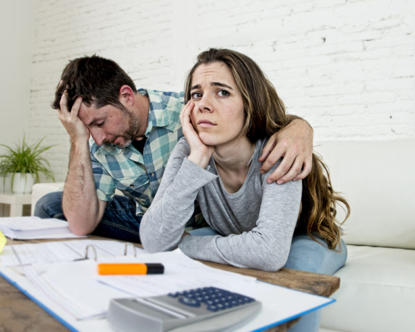 Couple stressed about Finances