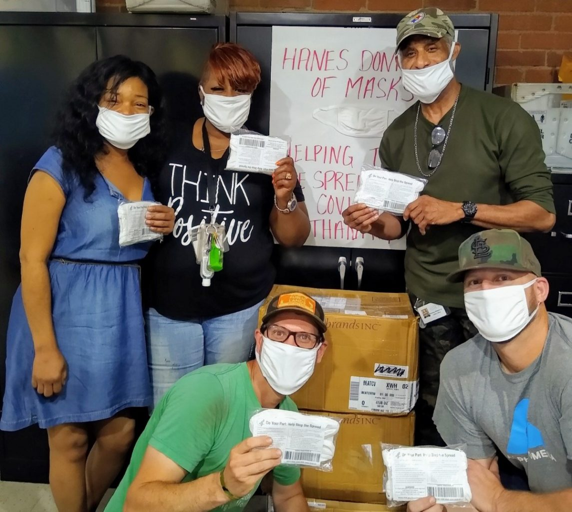 Hanes Face Mask Donation - Pittsburgh Mercy's Operation Safety Net