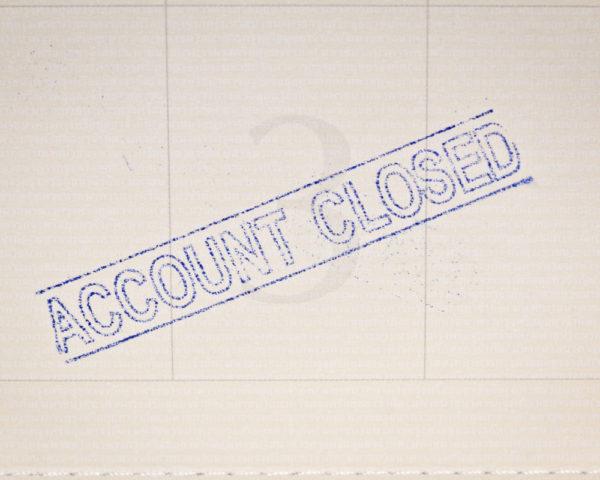 bank account closed