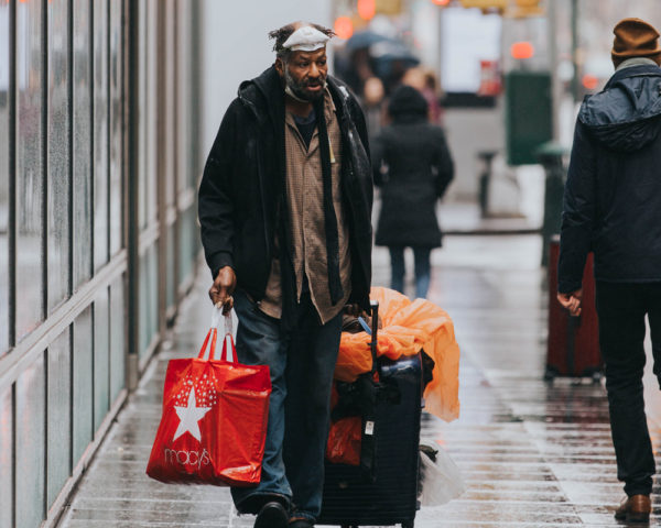 homeless man in NYC during COVID-19