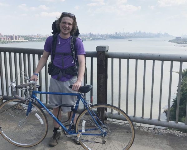 Ben Bonkoske with his bike