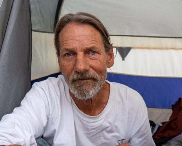 Elderly Homeless Man Living in a Tent as a Retirement Plan