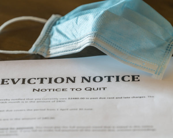 eviction due to inability to pay rent
