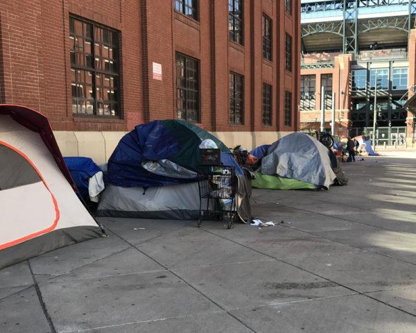 homeless tents in denver