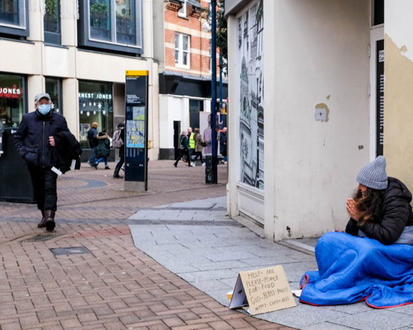 Homeless Woman in UK