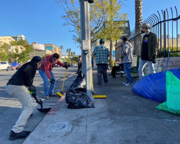 cleaning up homeless encampments