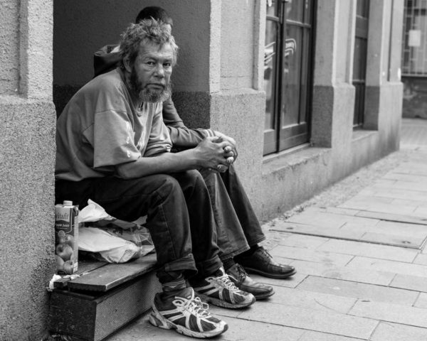 homeless people suffering