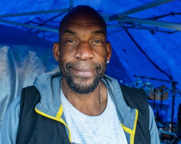 homeless man in venice beach