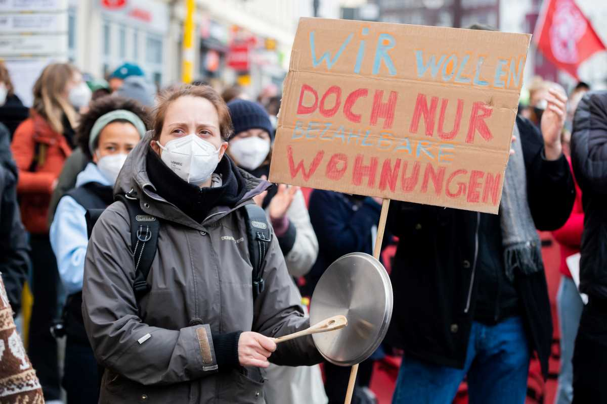 Affordable housing demonstration in Berlin