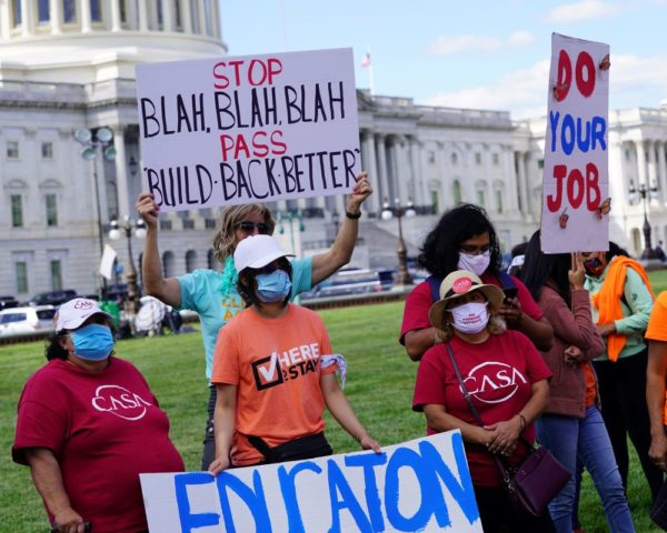 Protestors support Build Back Better Act