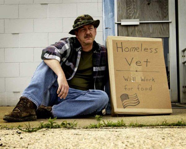 homeless war veteran